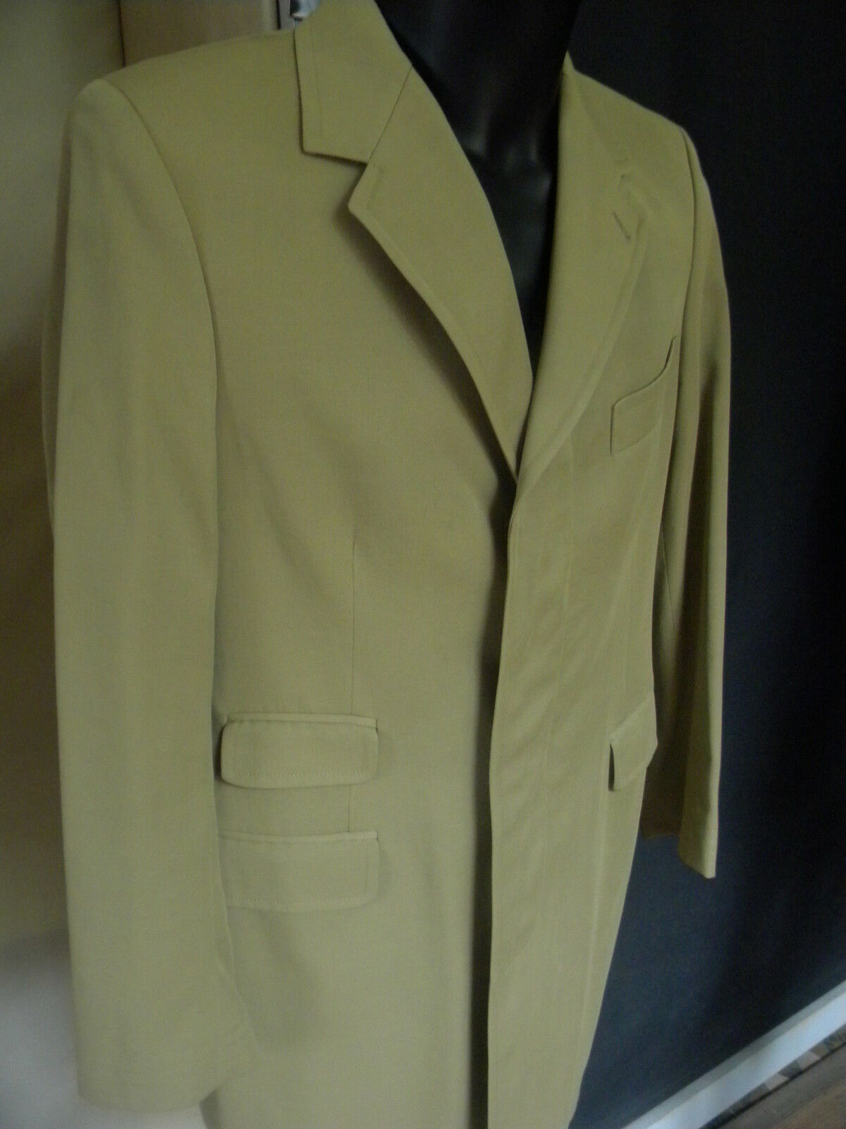 PAUL SMITH MANTEAU FABRIQUE EN ANGLETERRE BEIGE US 38 FR 48 LONG COAT ENGLAND