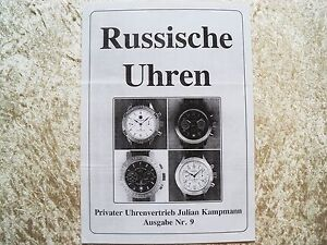 Russische Armbanduhren Poljot , Wostok , Prospekt Kapmann Heute Vergriffen ! !