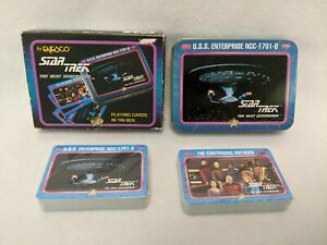 Star Trek the Next Generation Playing Cards in Tin Box (new)