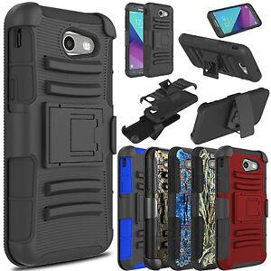 For-Samsung-Galaxy-J3-Emerge-Prime-Luna-Pro-Shockproof-Case-With-Kickstand-Clip