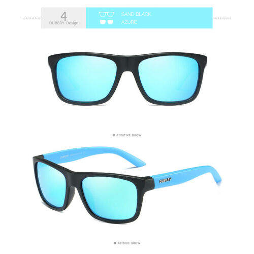 DUBERY Polarized Sunglasses Unisex Sport Driving Square Frame Sun Glasses UV400