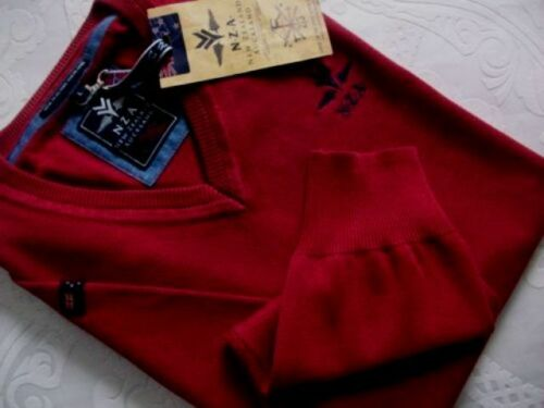 NEW Zealand Auckland n.z.a Uomo Pullover L /& XXL Bordeaux Nuovo