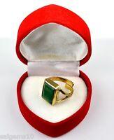 12.60 Ct EBAY Certified Emerald Cut Natural Emerald Astrological Ring