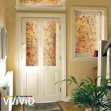 """36"""" x 24"""" VViViD Warm Mosaic Frosted Privacy Vinyl Window Film Home Glass Decor"""