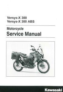 Details About Kawasaki Versys X 300 Abs Versys 2017 2018 Service Manual 3 Ring Binder