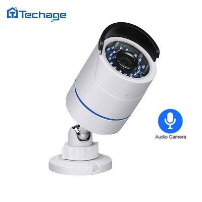 Techage 48V 2.0MP 1080P POE HD CCTV IP Camera Onvif Home Security Surveillance