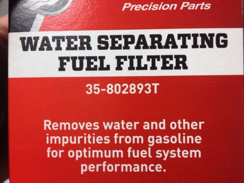 Mercury Water Separating Fuel Filter 35-802893T Outboard /& Sterndrive 2 PACK