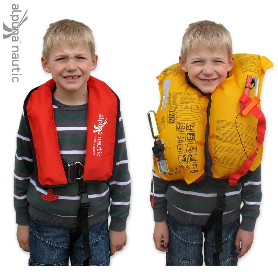 ALPUNA nautic Vollautomatik Kinder-Rettungsweste Kinder-Rettungsweste Vollautomatik 100N 15-40kg aa470d