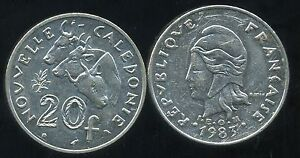Fougueux Nouvelle Caledonie 20 Francs 1983 ( Bis )