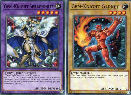 Yu-Gi-Oh!/> Gem-Knight Seraphinite /& Garnet /< OP06-EN026//014 Englisch Common OTS6