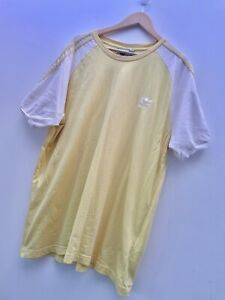 Men's Adidas Originals California T Shirt Tee Top Sz XXL Yellow Classic Ringer
