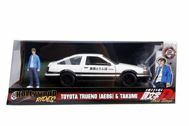 JADA TOYOTA TRUENO AE86 W// TAKUMI FIGURE INITIAL D FIRST STAGE 1//24 99733