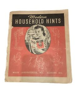 1940'S ADVERTISEMENT BOOKLET HOUSEHOLD HINTS MILES LABORATORIES ELKHART INDIANA
