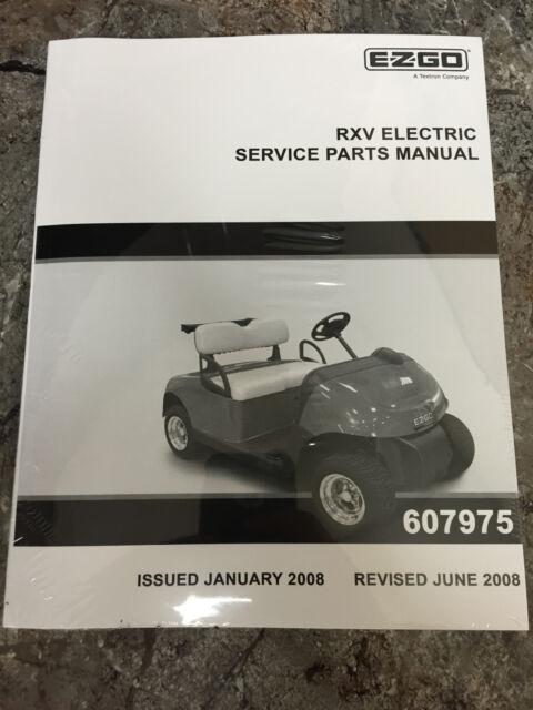 ez go golf cart part rxv electric service parts manual 607975 for rh ebay com