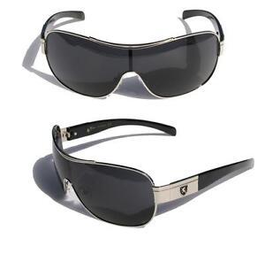 0dbc765198 Image is loading Mens-Oversized-Sunglasses-Khan-eyewear-SHIELD-SPORTY-WRAP-