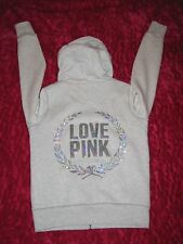 victoria secrets pink BLING FUR HOODIE JACKET LIMITED HOODIE NWT SMALL SEQUINS