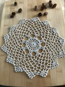 12Pcs/Lot Vintage Hand Crochet Lace Doilies Coasters Cotton 25cm Item4