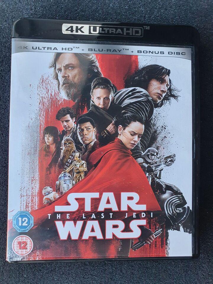 Star Wars The Last Jedi, Blu-ray, science fiction