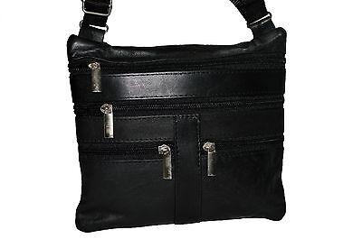 POUCH MULTI POCKET TRAVELL SHOULDER BELT BAG NEW BLACK GREAT GIFT IDEA