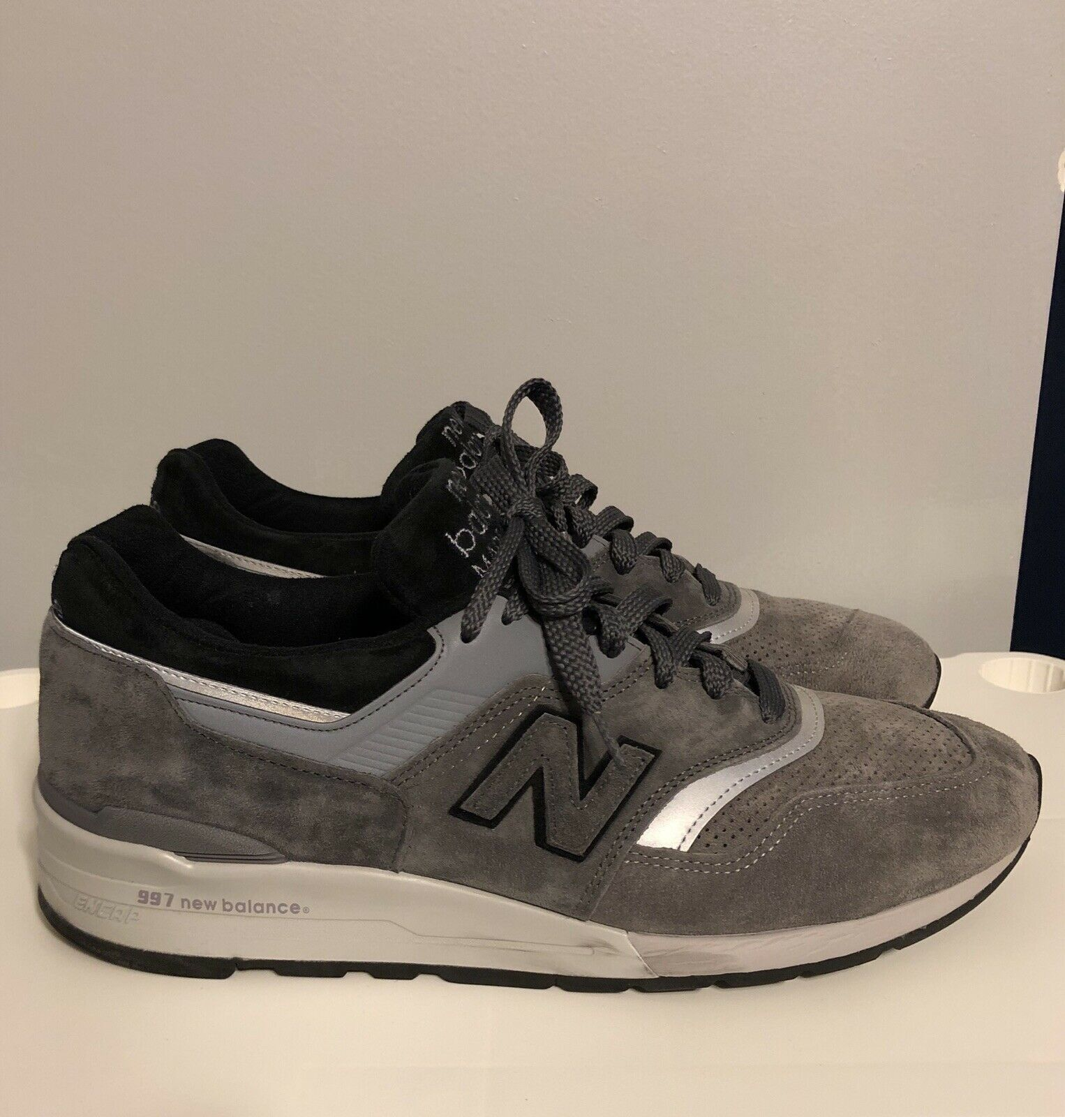 New balance 997 Hecho en EE. UU. gris Plata Negro M997BRK
