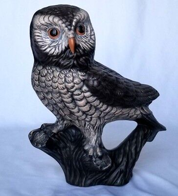 Transient Wisdom Of The Forest Great Horned Owl /& Owlet Decorative Figurine