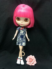 """12"""" Factory Type Neo Blythe Doll Short Pink Hair- Includes Outfit &Shoes  J003"""