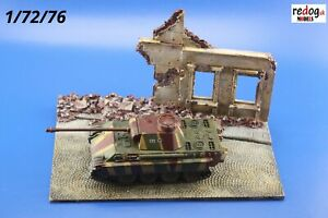 Redog-1-72-Small-Resin-Diorama-Base-Ruins-Tank-Scale-Model-Building-d8