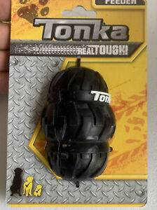 FEEDER TONKA REAL TOUGH STRONG AS A REAL TIRE USE WITH THREATS DOG FOOD