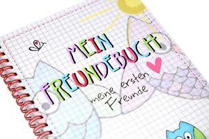 Mein Freundebuch EULEN Freundschaftsb<wbr/>uch Poesiealbum erste Freunde