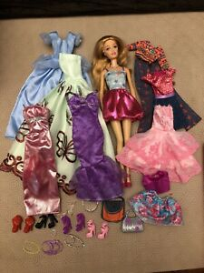 Barbie With Clothes Shoes And Accessories Bundle Ebay