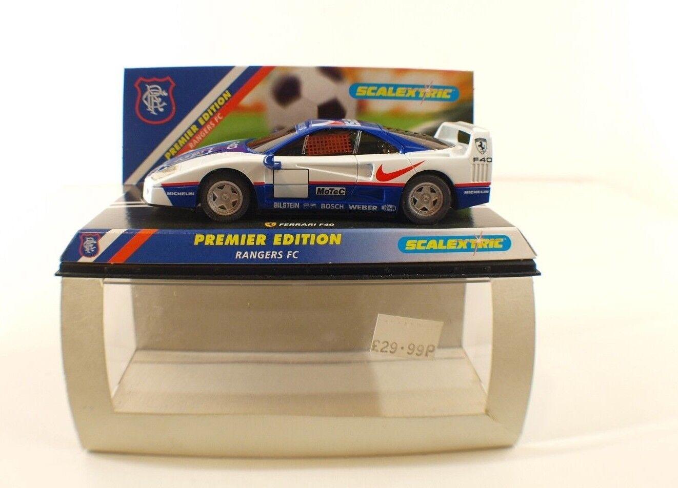 Scalextric 2148 super edition ferrari f40 rangers fc slot car 1 32 mint