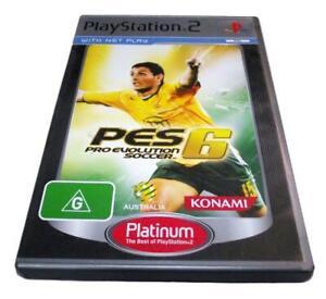 Pro Evolution Soccer 6 Ps2 Platinum Pal Complete Ebay