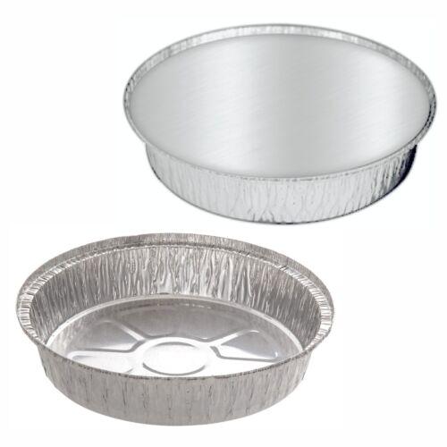 """20 X Nuevo Redondo contenedores de lámina de aluminio tamaño de 9/"""" Grandes Con Tapas bandejas puntos"""