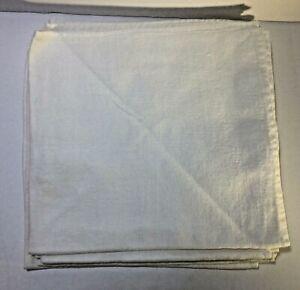 Set-of-6-Vintage-White-Linen-Napkins-Floral-Design