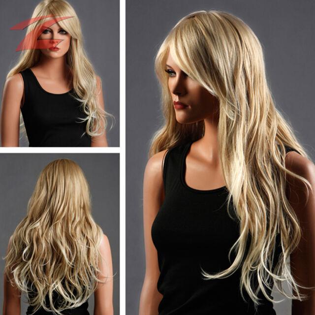 ZNL NEU Perücke Wig Haar Blond Lang Gelockt Haarteil Zweithaar ZL174-27T613