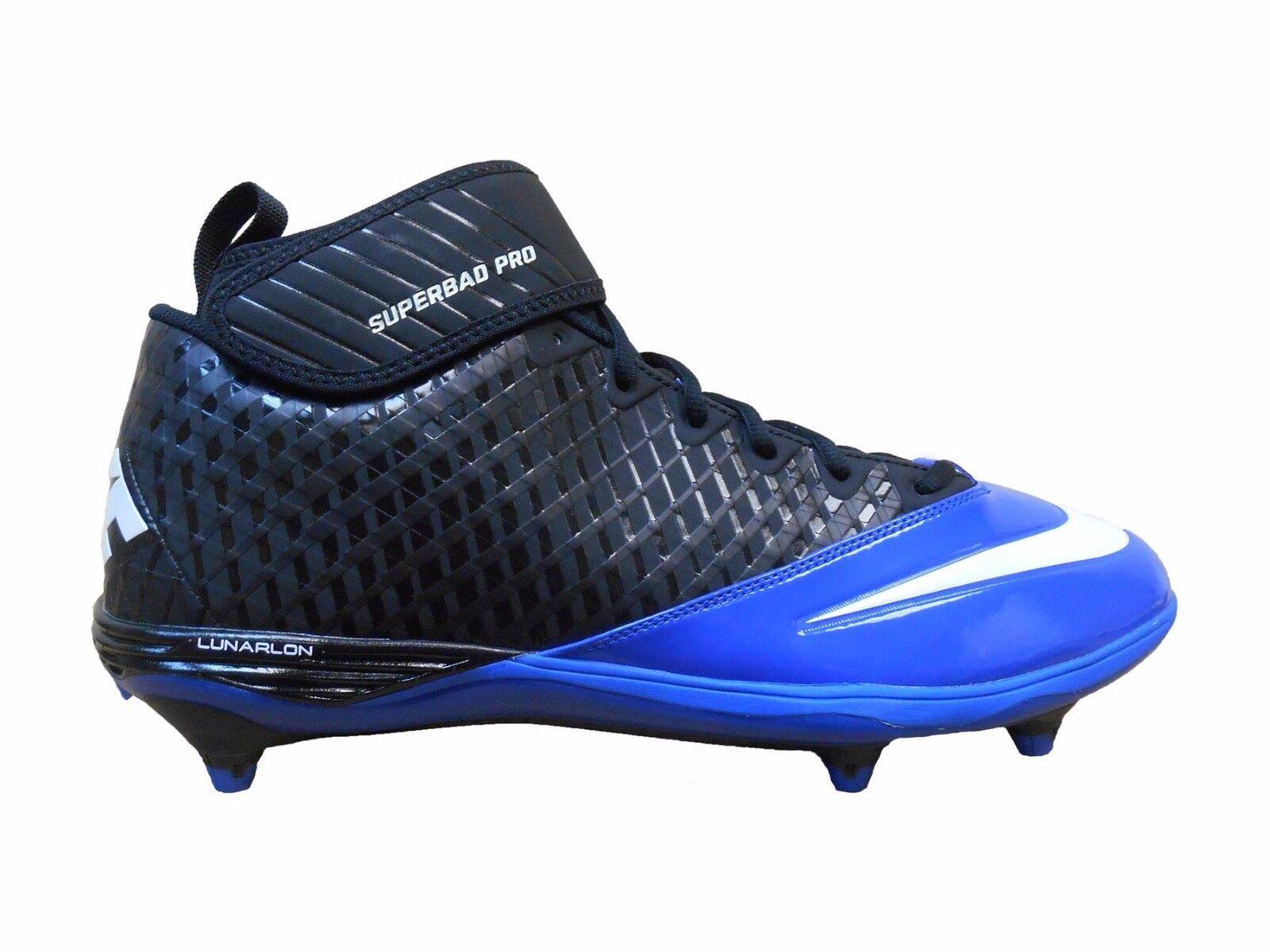 New Mens 13 NIKE Lunar Superbad Pro bluee Black Cleats shoes  105 511328-014