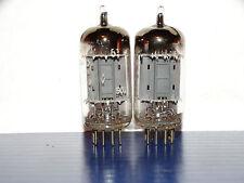 2 x 12ax7 Amperex Bugle Boy Tubes *Foil D Getter*Strong & Balanced Matched*1958*