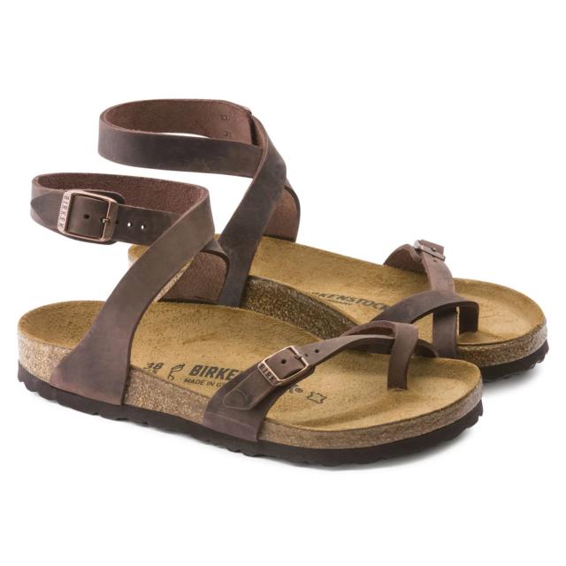 2c9857a7cd2 Birkenstock Womens Yara Leather Ankle-strap Sandal Habana 38 Eu 7 M ...