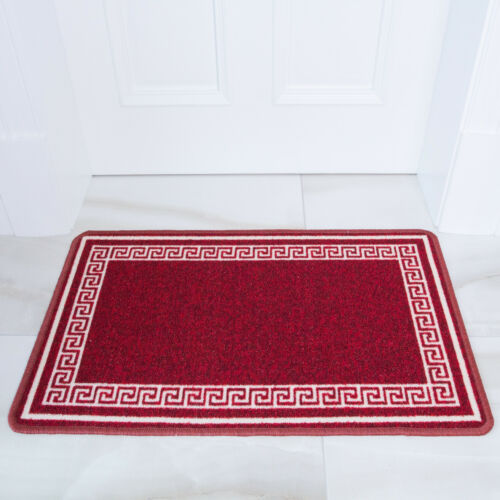 Washable Kitchen MatLong Non Slip Hall RunnersRed Traditional Utility Mats