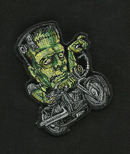 FRANKIES SLED MOTORCYCLE JACKET VEST BIKER PATCH FRANKENSTEIN MONSTER BIKER