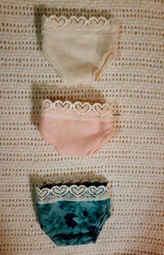 """3 PACK Brand New in Package American Girl 14.5/"""" WELLIE WISHERS DOLL PANTIES"""