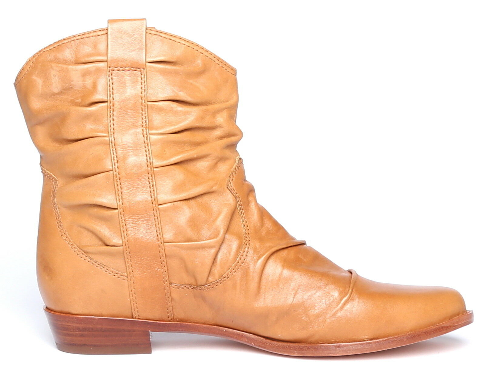 Corso Como Womens Whiskey Starr Leather Leather Leather Slouchy Short Boots Sz 10 9148 c918fd