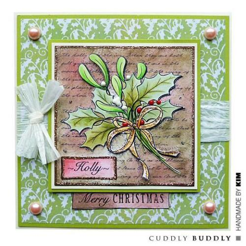 Cuddly Buddly Clear Stamps Holly Collage CBS0003