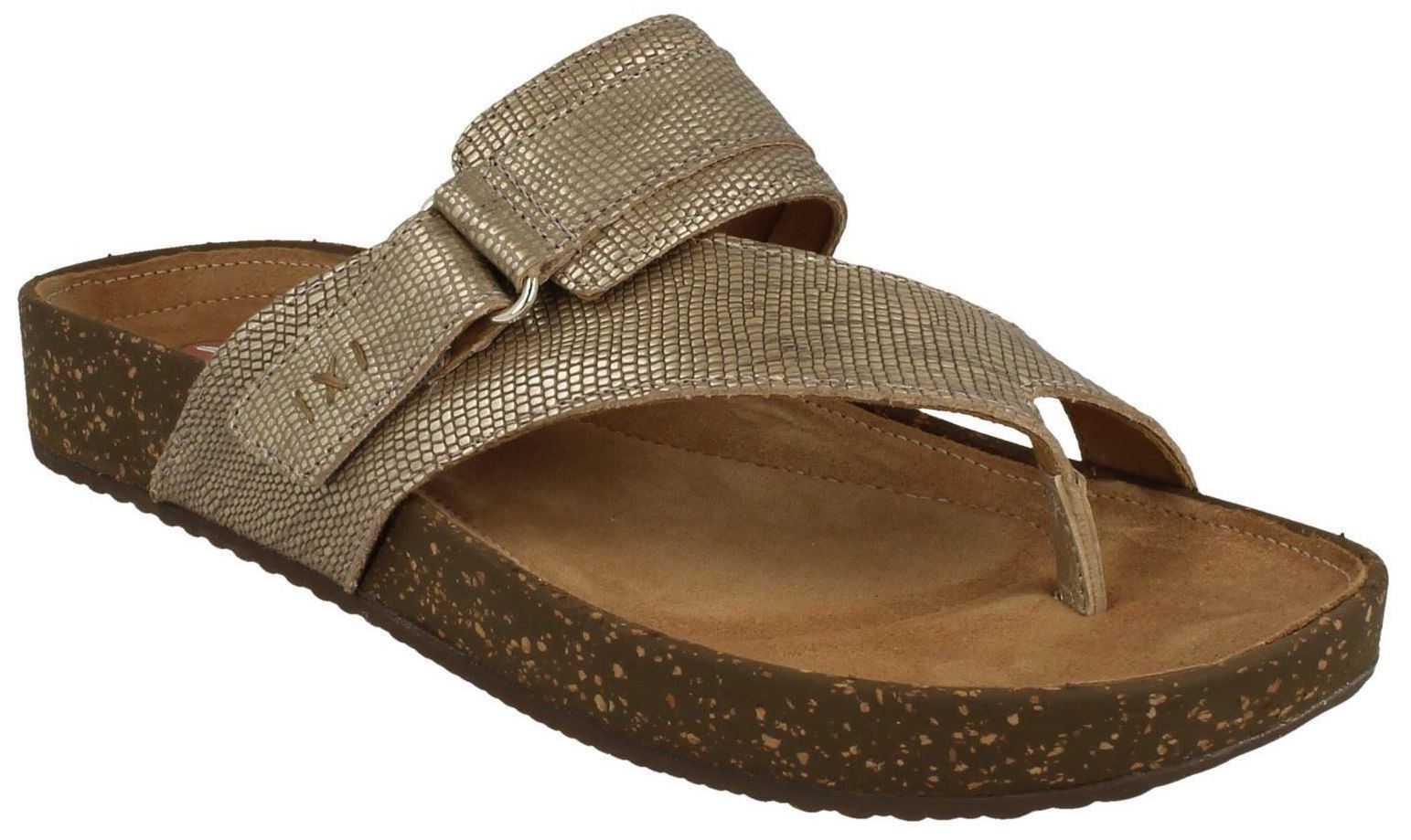 Womens Clarks Rosilla Durham gold Metallic Slide Sandals