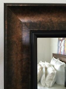 Details About West Frames Tuscan Bathroom Wall Framed Mirror Black Bronze With Gold Finish