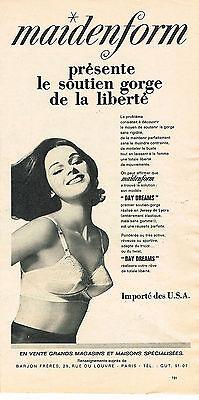 PUBLICITE ADVERTISING 084  1963  MAIDENFORM   soutien gorge DAY DREAM