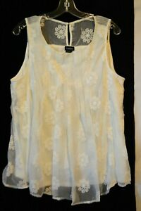 NWT-Torrid-Women-039-s-Ivory-Cream-Lace-Tank-Top-Plus-size