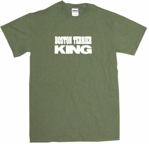 Boston Terrier King Mens Tee Shirt Pick Size Color Small-6XL