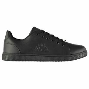 5b9765f4a6780 Kappa Mens Maresas DLX Trainers Court Lace Up Leather Upper ...
