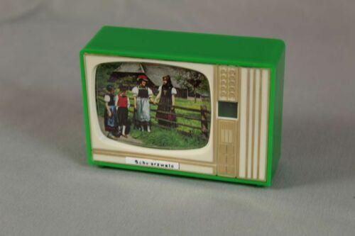 kleines Plastiskop grüner Fernseher 1960er//70er //S184 8 Schwarzwald Motive